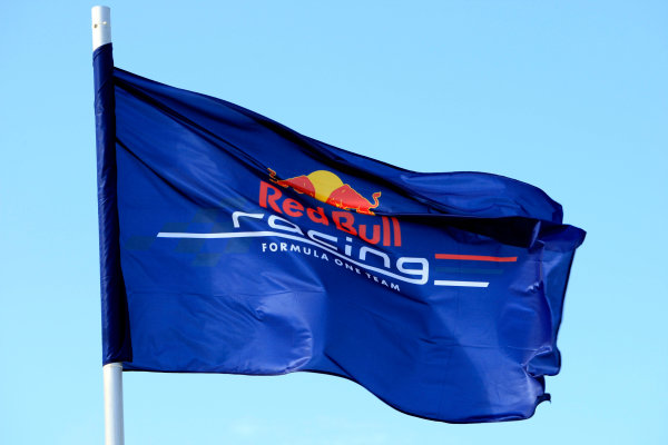 Silverstone, Northamptonshire, England 9th July 2010 Red Bull Racing flag.World Copyright: Jed Leicester//LAT Photographic ref: Digital Image _ED_0334