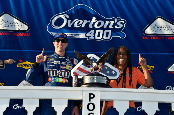 Monster Energy NASCAR Cup Series Overton's 400 Pocono Raceway, Long Pond, PA USA Sunday 30 July 2017 Kyle Busch, Joe Gibbs Racing, M&M's Caramel Toyota Camry wins World Copyright: Rusty Jarrett LAT Images