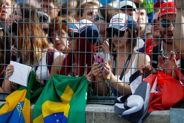 Hungaroring, Budapest, Hungary.  Thursday 27 July 2017. Fans of Felipe Massa, Williams Martini Racing.  World Copyright: Glenn Dunbar/LAT Images  ref: Digital Image _31I7776