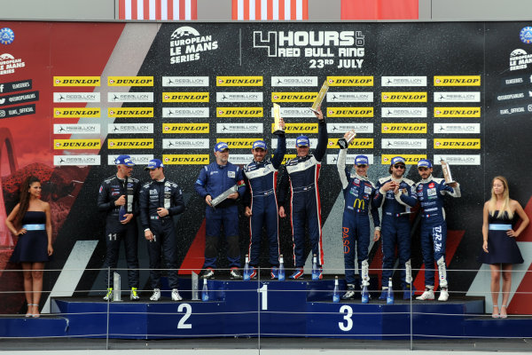 2017  European Le Mans Series, Red Bull Ring, 21st-23rd July 2017, P3 Podium  World Copyright. JEP/LAT Images