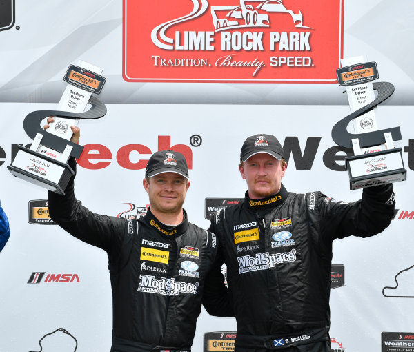 IMSA Continental Tire SportsCar Challenge Lime Rock Park 120 Lime Rock Park, Lakeville, CT USA Saturday 22 July 2017  25, Mazda, Mazda MX-5, ST, Chad McCumbee, Stevan McAleer World Copyright: Richard Dole LAT Images ref: Digital Image RD_LRP_17_01182