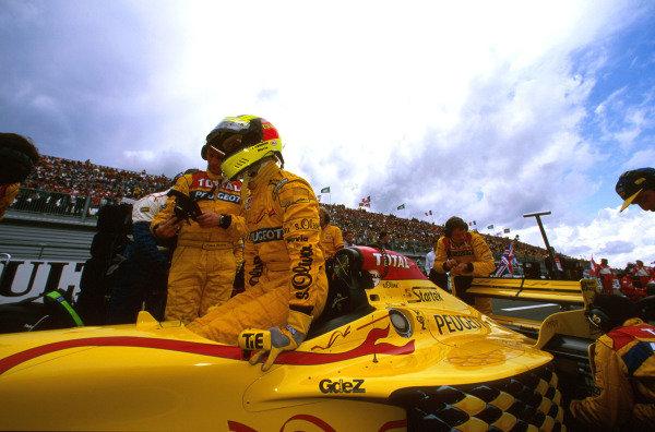 Magny-Cours, France.27-29 June 1997.Ralf Schumacher (Jordan 197 Peugeot) 6th position.Ref-97 FRA 18.World  Copyright - LAT Photographic
