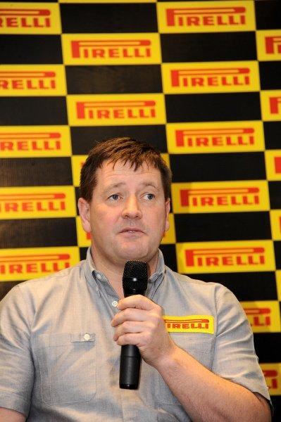 Paul Hembery (GBR), Director of Pirelli Motorsport. Pirelli 2012 Pre-Season Launch, Yas Marina Circuit, Abu Dhabi, Wednesday 25 January 2012.