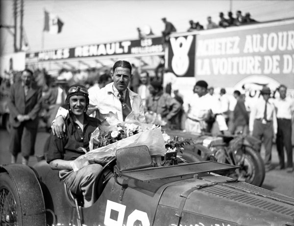 1932 Le Mans 24 hours. Le Mans, France. 18-19 June 1932. Sammy Newsome/Henken Widengren (Aston Martin 1.5-litre), 5th position. Portrait. World Copyright: LAT Photographic Ref: Autocar Glass Plate B8562