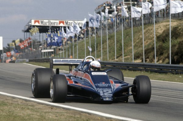 1980 Belgian Grand Prix.Zolder, Belgium. 2-4 May 1980.Elio de Angelis (Lotus 81-Ford Cosworth), 10th position/accident.World Copyright: LAT PhotographicRef: 35mm transparency 80BEL17