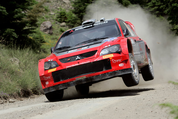 2005 FIA World Rally Champs. Round eightAcropolis Rally 23rd - 26th June 2005 Gigi Gali, Mitsubishi, Action.