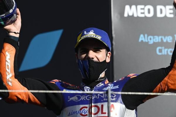 Podium: race winner , Miguel Oliveira, Red Bull KTM Tech 3.