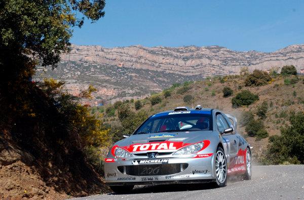2002 World Rally ChampionshipRally Catalunya, 21st-24th March 2002.Richard Burns on Stage 3.Photo: Ralph Hardwick/LAT