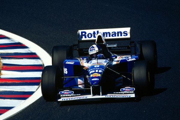 1995 Pacific Grand Prix.Tanaka International, Aida, Japan.20-22 October 1995.David Coulthard (Williams FW17B Renault) 2nd position.World Copyright - LAT Photographic
