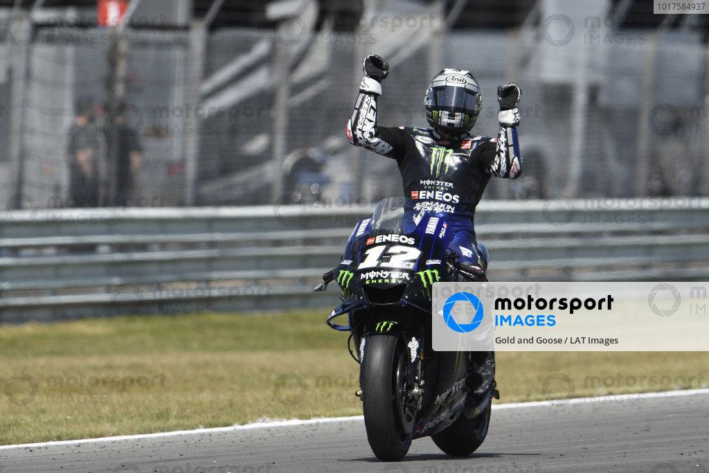 Race winner Maverick Vinales, Yamaha Factory Racing.