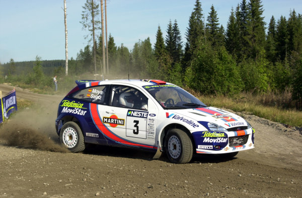 2001 World Rally Championship.Neste Rally Finland. Jyvaskyla, August 24-26, 2001.Carlos Sainz on the first stage.Photo: Ralph Hardwick/LAT