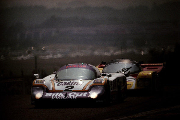 Jan Lammers / Johnny Dumfries / Andy Wallace, Silk Cut Jaguar, Jaguar XJR-9 LM.