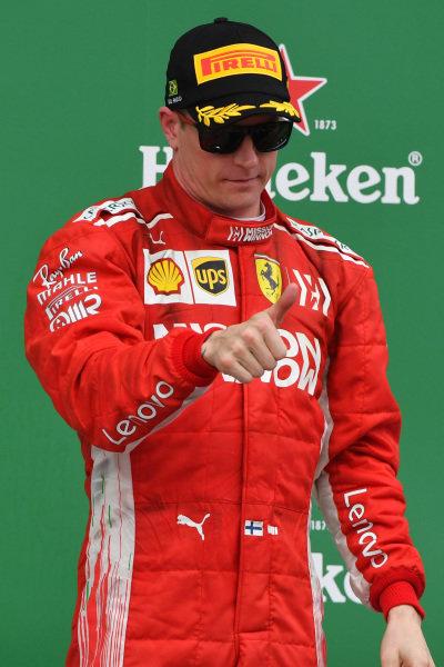 Kimi Raikkonen, Ferrari oslavuje na pódiu
