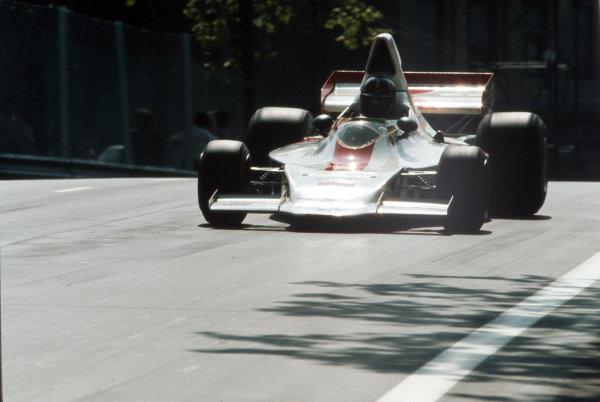 Montjuich Park, Barcelona, Spain.27-29 April 1973.Graham Hill (Embassy Racing/Shadow DN1A-Ford).Ref-35mm 73 ESP 46.World Copyright - LAT Photographic