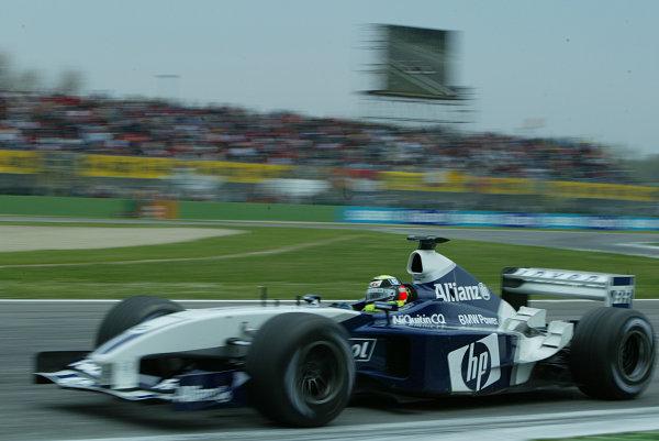 2003 San Marino Grand Prix - Sunday Race,Imola, Italy.20th April 2003.Ralf Schumacher, BMW Williams FW25, Race action.World Copyright LAT Photographic.ref: Digital Image Only.