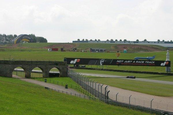 Bridge on the Schwantz curve Donington Park Track Feature, Donington Park, England, 24 July 2008.
