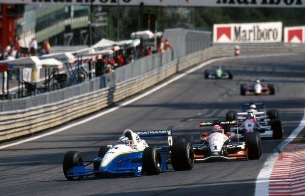Race winner Olivier Panis (FRA) DAMS Reynard 93D Cosworth AC leads the field.International Formula 3000 Championship, Spa-Francorchamps, Belgium, 28 August 1993.
