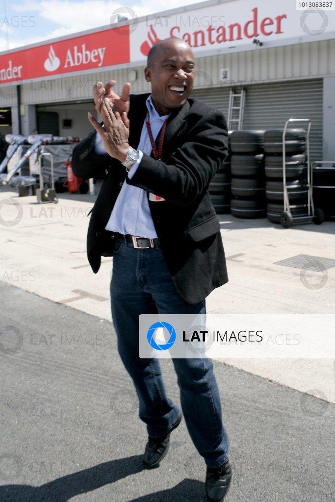 2007 British Grand Prix - Saturday QualifyingSilverstone, Northamptonshire, England.7th July 2007.Lewis Hamilton's father Anthony celebrates Pole Position at the British GP. Portrait.World Copyright: Steven Tee/LAT Photographicref: Digital Image YY2Z5615
