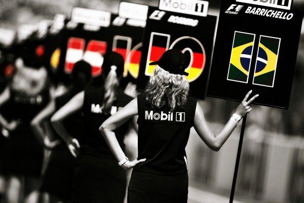 Grid girls. Formula One World Championship, Rd 12, German Grand Prix, Race Day, Hockenheim, Germany, 30 July 2006. DIGITAL IMAGE