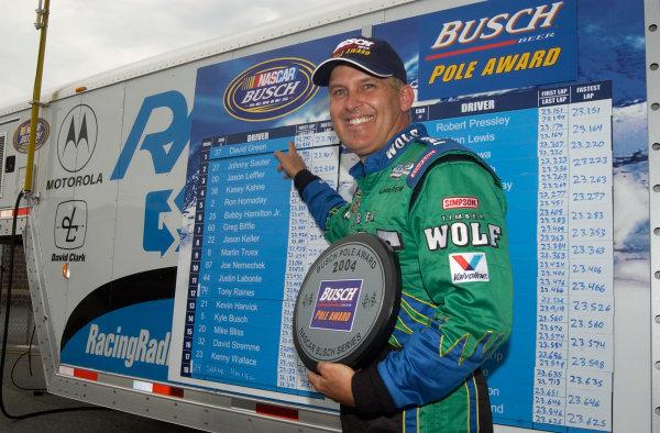 04-06 June, 2004, Busch Series, Dover International Speedway, USA,David Green wins Busch Series pole,Copyright-Robt LeSieur 2004 USALAT Photographic