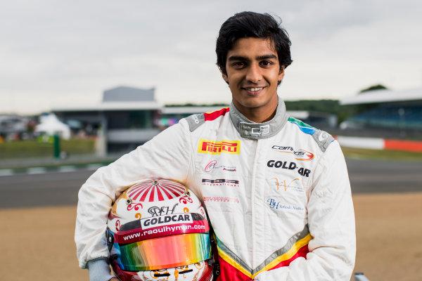 2017 GP3 Series Round 3.  Silverstone, Northamptonshire, UK. Thursday 13 July 2017. Raoul Hyman (RSA, Campos Racing).  Photo: Zak Mauger/GP3 Series Media Service. ref: Digital Image _54I2883