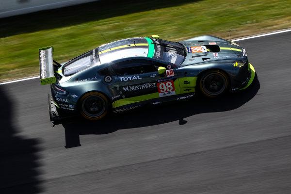 2017 Le Mans 24 Hours Test day, Le Mans, France. 4th June 2017. #98 Aston Martin Racing Aston Martin Vantage: Paul Dalla Lana, Pedro Lamy, Mathias Lauda. World Copyright: JEP/LAT Images.