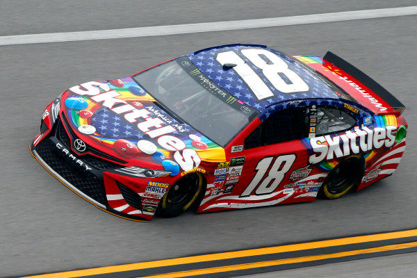 Monster Energy NASCAR Cup Series GEICO 500 Talladega Superspeedway, Talladega, AL USA Friday 5 May 2017 Kyle Busch, Joe Gibbs Racing, Skittles Red, White, & Blue Toyota Camry World Copyright: Lesley Ann Miller LAT Images ref: Digital Image lam_170505DEGA49089