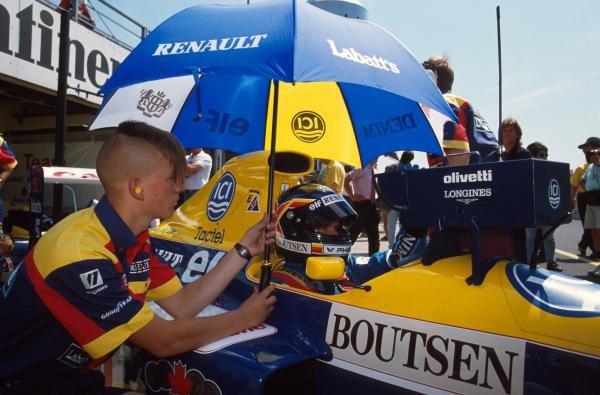 Thierry Boutsen(BEL), Williams FW13B, 6th place. Wierd haircut!! German GP, Hockenheim, Germany, 29 July 1990