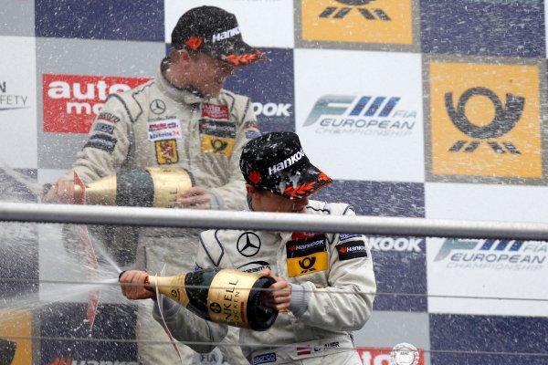 Podium, Lucas Auer (AUT) PREMA POWERTEAM Dallara F312 Mercedes