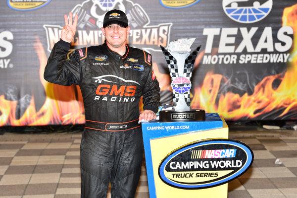 3-4 November, 2016, Fort Worth, Texas USA Johnny Sauter (21) celebrates after winning at Texas. ©2016, John Harrelson / LAT Photo USA