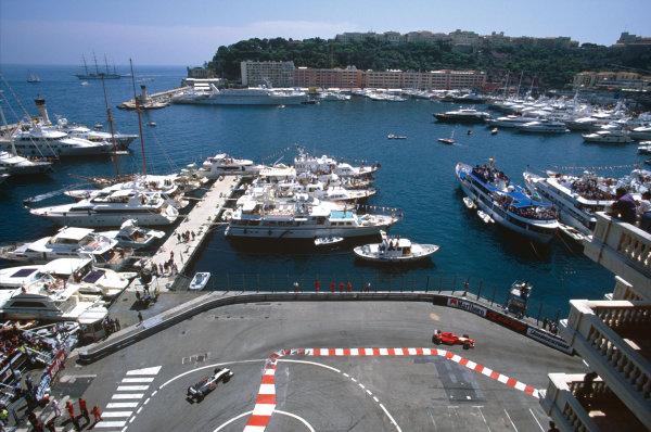 Monte Carlo, Monaco. 13-16 May 1999. Michael Schumacher (Ferrari F399), 1st position, action.  World Copyright: LAT Photographic. Ref:  99 MON 09.