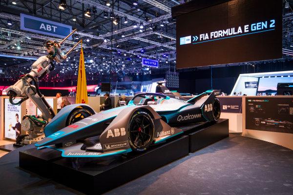 2017/2018 FIA Formula E Championship. Geneva Motor Show Tuesday 6 March 2018. The FIA Formula-E Gen2 car is unveiled. Photo: Sam Bloxham/LAT/Formula E ref: Digital Image _W6I3908