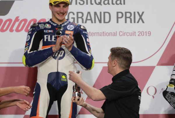 Podium: Race winner Lorenzo Baldassarri, Pons HP40.