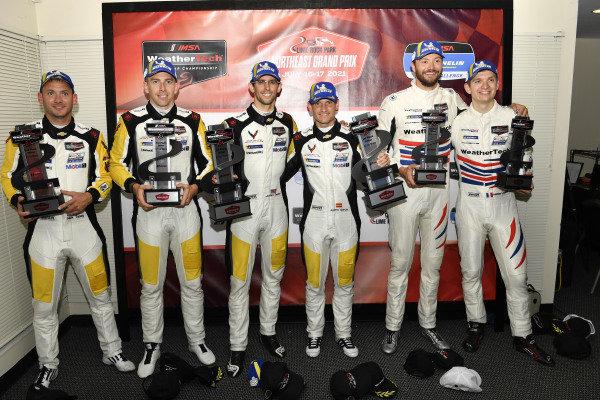 #4: Corvette Racing Corvette C8.R, GTLM: Tommy Milner, Nick Tandy, #3: Corvette Racing Corvette C8.R, GTLM: Antonio Garcia, Jordan Taylor, #79: WeatherTech Racing Porsche 911 RSR - 19, GTLM: Cooper MacNeil, Mathieu Jaminet