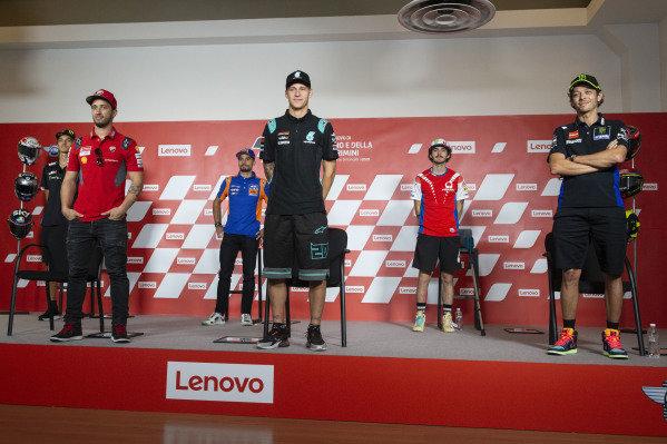 Luca Marini, Andrea Dovizioso, Ducati Team, Miguel Oliveira, Red Bull KTM Tech 3, Fabio Quartararo, Petronas Yamaha SRT, Valentino Rossi, Yamaha Factory Racing, Francesco Bagnaia, Pramac Racing.