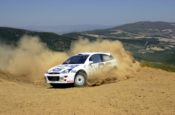 2001 World Rally Championship.Acropolis Rally June 14-17, 2001.Francois Delecour on stage 9.Photo: Ralph Hardwick/LAT