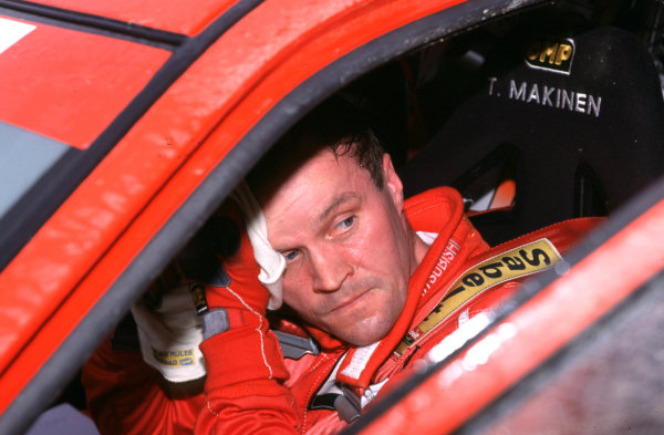 2001 World Rally Championship. Rally Portugal, Portugal. 8th-11th March 2001. Tommi Makinen in Mitsubishi, portrait. World Copyright: McKlein / LAT Photographic. Ref: Portugal A17