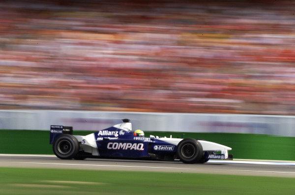 2001 German Grand Prix - Race.Hockenheim, Germany. 29th July 2001.Race winner Ralf Schumacher, BMW Williams FW23, action.World Copyright: Steve Etherington/LAT Photographic.ref: 17 5mb Digital Image