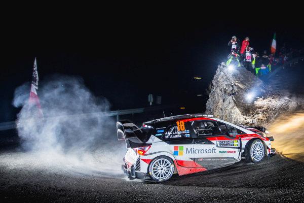 Jari-Matti Latvala (FIN) / Miikka Anttila (FIN), Toyota Gazoo Racing Toyota Yaris WRC at FIA World Rally Championship, Rd1, Rally Monte Carlo, Day One, Monte Carlo, Monaco, 20 January 2017.