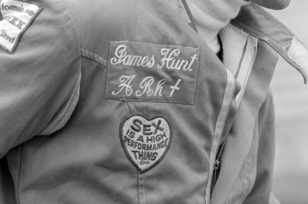 Patches worn by James Hunt.
