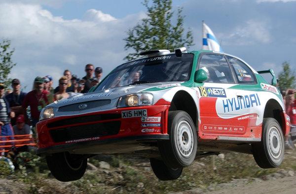 2002 World Rally Championship.Neste Rally Finland, Jyvaskyla Finland, August 8-11th.Freddy Loix on the Ruuhimaki stage.Photo: Ralph Hardwick/LAT