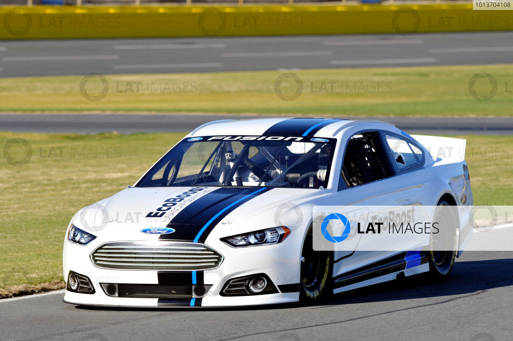 24 January, 2012, Concord, North Carolina, USAGreg Biffle runs laps at the unveiling of the 2013 Ford Fusion which will compete in the NASCAR Sprint Cup Series in 2013.(c)2012, LAT SouthLAT Photo USA