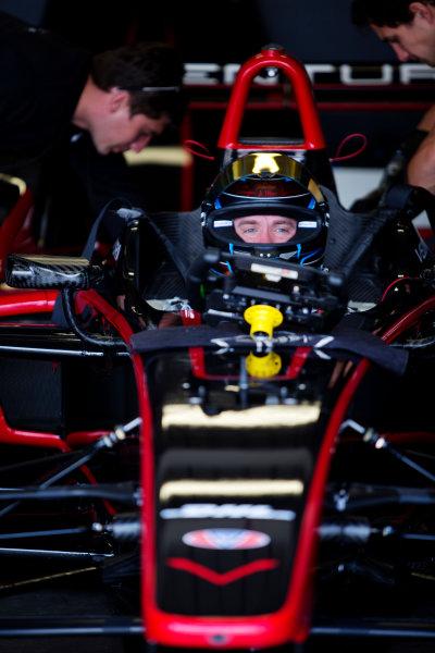 FIA Formula E Test Day, Donington Park, UK.  3rd - 4th July 2014.  Nick Heidfeld, Venturi Grand Prix. Photo: Malcolm Griffiths/FIA Formula E ref: Digital Image A50A2811