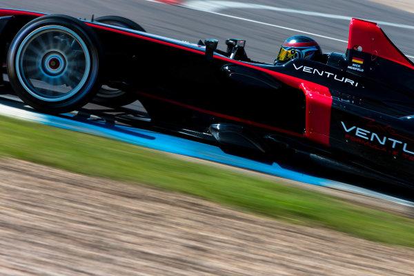 2014 Formula E Championship Donington Park Test Nick Heidfeld (GER) Venturi Racing Stephane Sarrazin (FRA) Venturi Racing Friday 4 July 2014. Photo Agency:LAT Photographic ref: Digital Image F80P8199