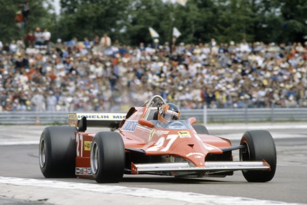 1981 French Grand Prix.Dijon-Prenois, France. 3-5 July 1981.Gilles Villeneuve (Ferrari 126CK), retired.World Copyright: LAT PhotographicRef: 35mm transparency 81FRA01