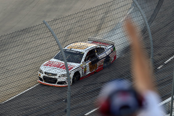 24-26 October, 2014, Martinsville, Virginia USA Dale Earnhardt Jr celebrates the win with a burn out ?2014, Scott R LePage  LAT Photo USA