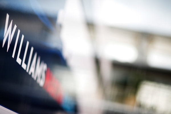 Red Bull Ring, Spielberg, Austria. Friday 19 June 2015. Williams Martini Racing logo on the side of the trucks. World Copyright: Alastair Staley/LAT Photographic. ref: Digital Image _R6T0851