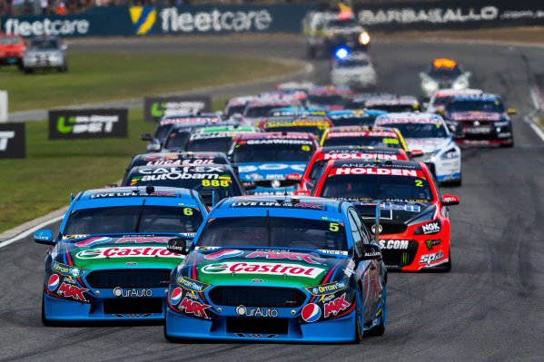 2015 V8 Supercars Round 3. Perth Super Sprint, Barbagallo Raceway, Western Australia, Australia. Friday 1st May - Sunday 3rd May 2015. Mark Winterbottom drives the #5 Prodrive Racing Australia Ford FG X Falcon  World Copyright: Daniel Kalisz/LAT Photographic Ref: Digital Image V8SC15_PERTHR3_DKIMG2416.JPG