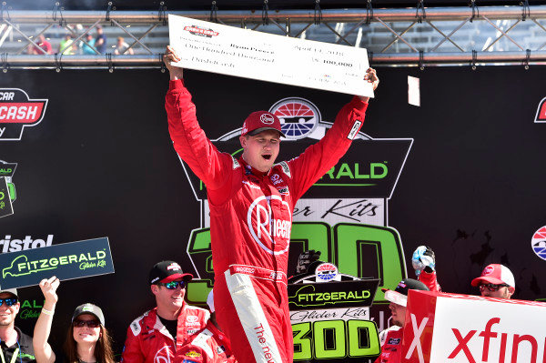 #18: Ryan Preece, Joe Gibbs Racing, Toyota Camry Rheem wins.