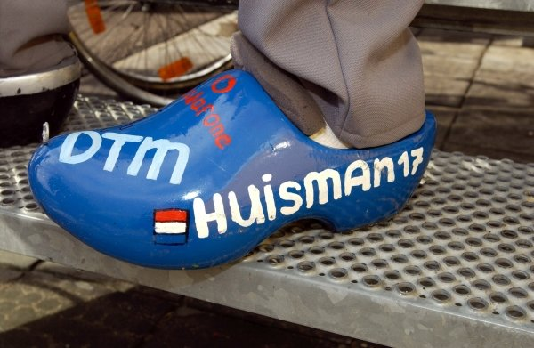 Fans of Dutchman Patrick Huisman (NED), Eschmann AMG Mercedes, wear clogs painted in the colours of Patrick's car.
